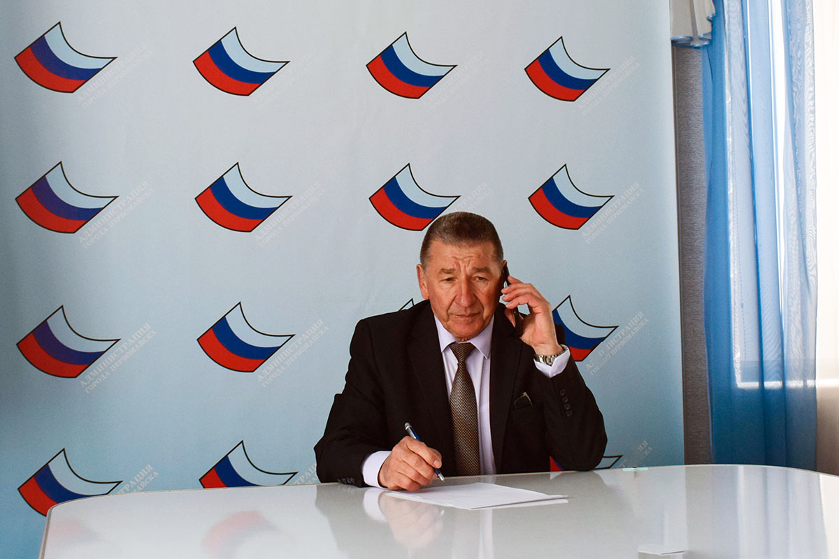 Глава Администрации города Первомайска провел прямую телефонную линию с жителями города