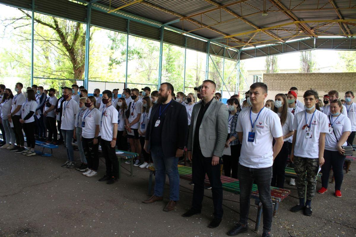 В ЛНР для лидеров проекта «Молодая Гвардия» провели посвящение