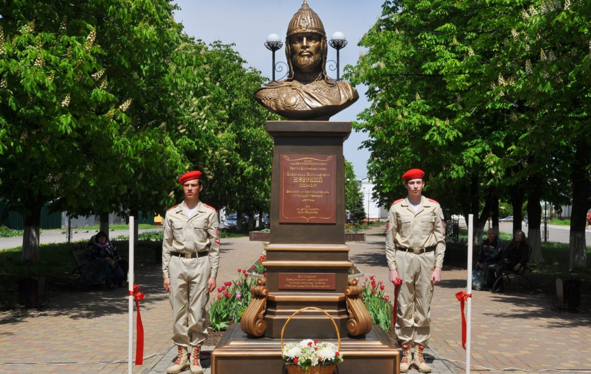 В Свердловске установили бюст Александра Невского 1
