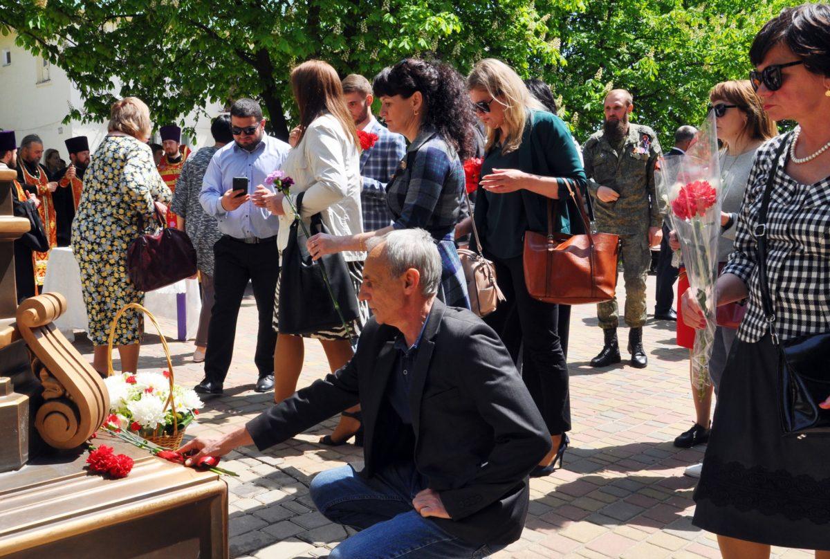 В Свердловске установили бюст Александра Невского 2