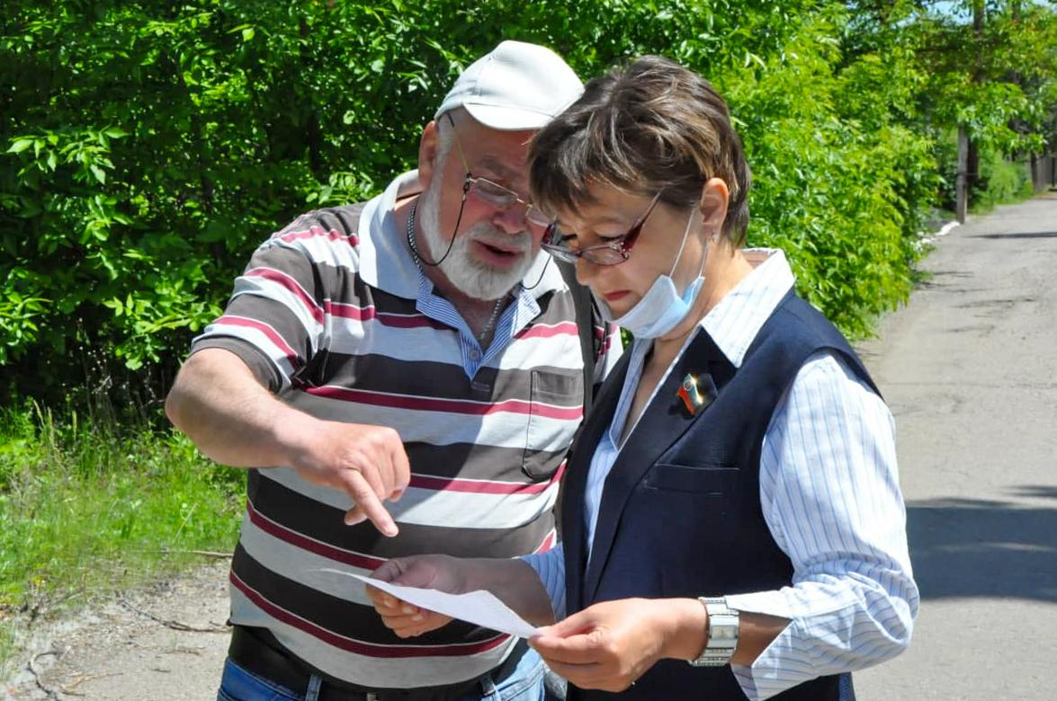 Светлана Алёшина встретилась с жителями поселка Максимовка города Стаханова