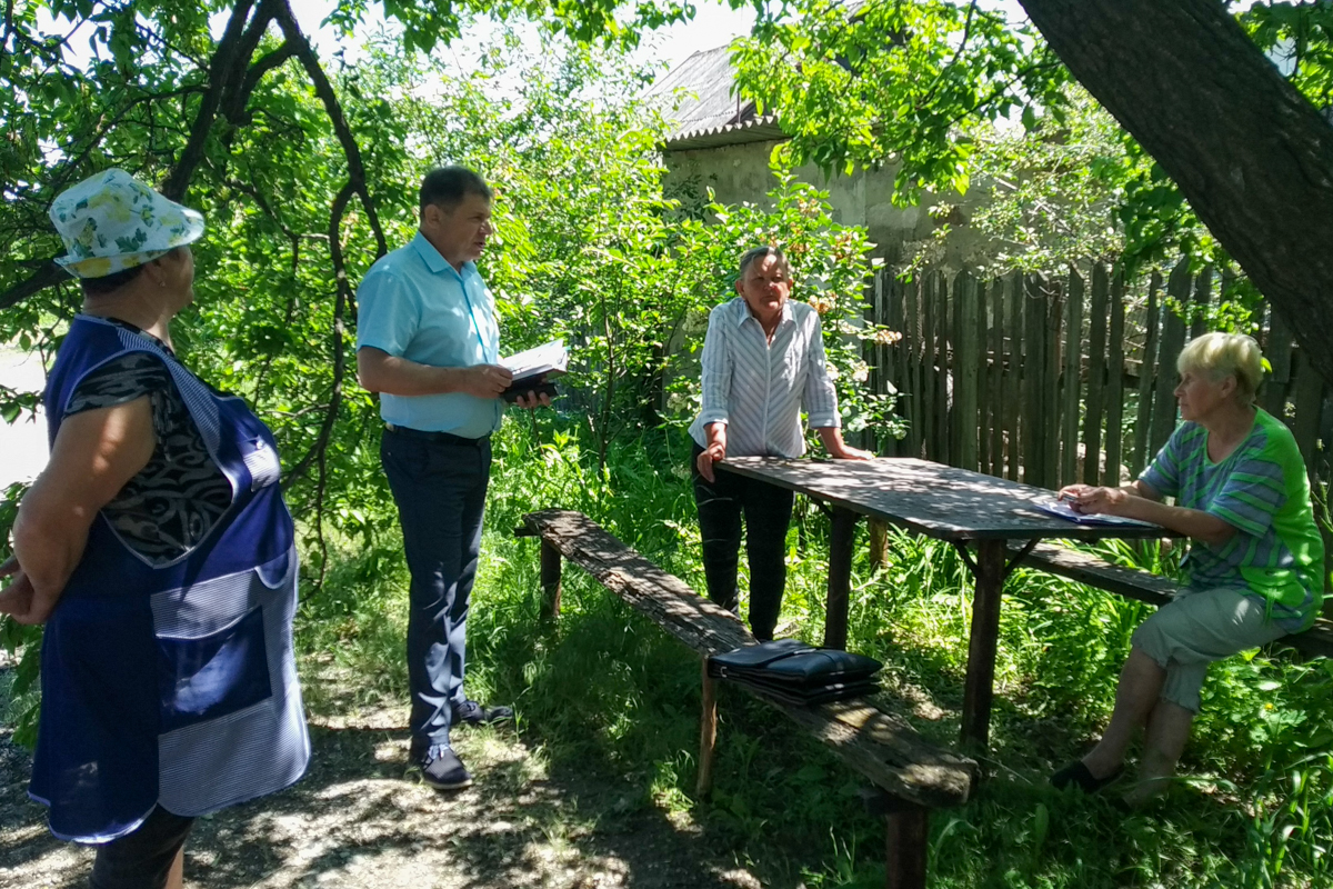 Депутат Роман Лысенко встретился с жителями посёлка Васильевка