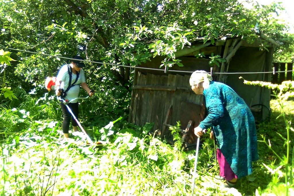Активисты ОД «Мир Луганщине» помогли пожилой жительнице Краснодонского района 1