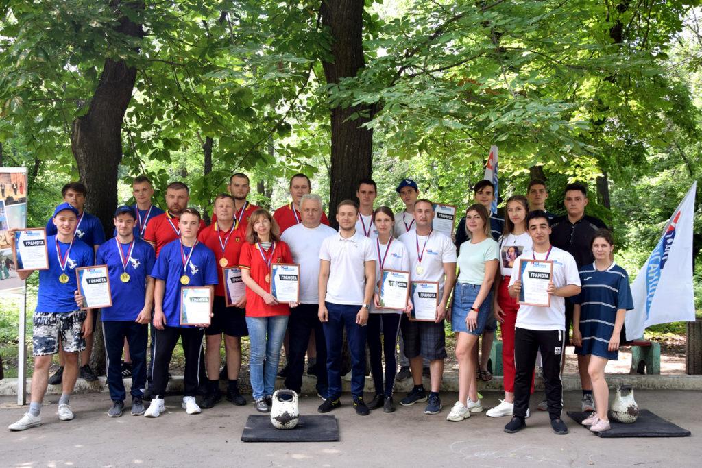 В День молодежи активисты ОД «Мир Луганщине» в Красном Луче провели «Богатырские игры» 2