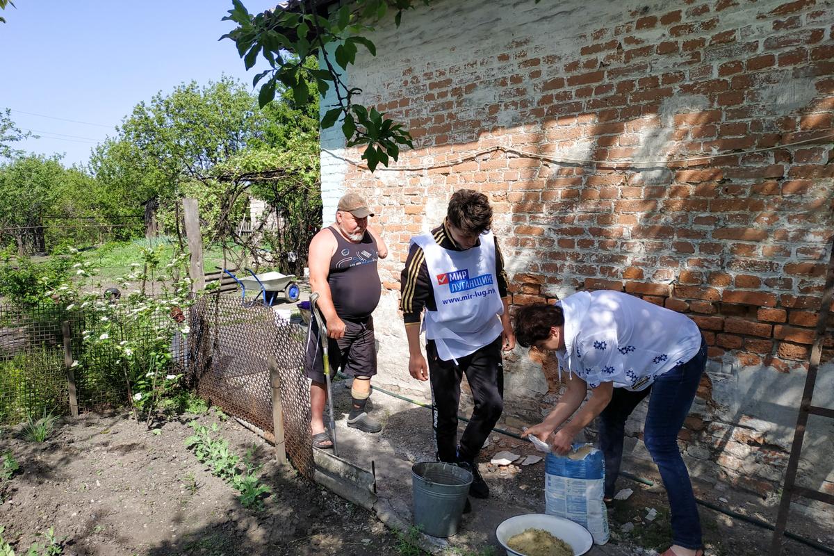 Активисты помогли участнику Русской весны