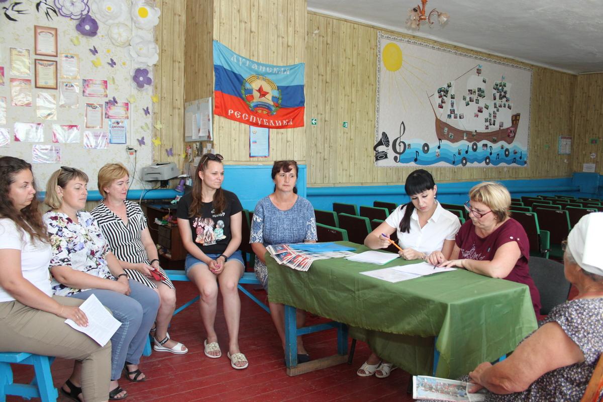 Депутат Александра Коваленко в рамках проекта «Парламентский час» посетила жителей Краснодонского района
