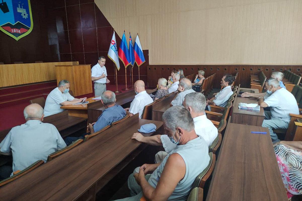 Встреча активистов проекта «Забота о ветеранах» состоялась в Стаханове
