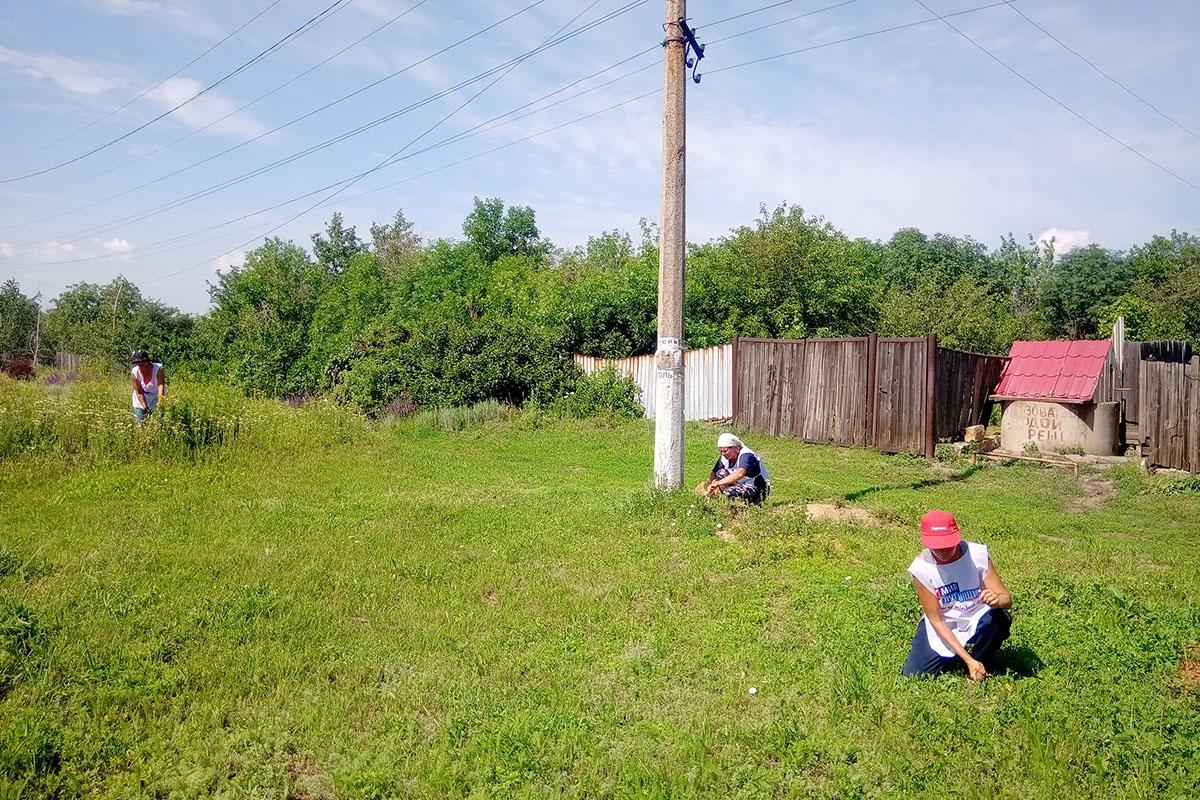 Активисты провели субботник в поселке Софиевский