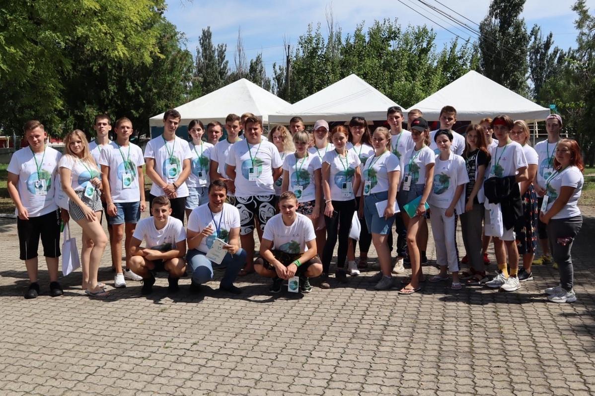 В завершение первой смены «Формула добра» Форума молодёжи Донбасса «МОРЕ-ЛЕС» участники представили свои проекты 1