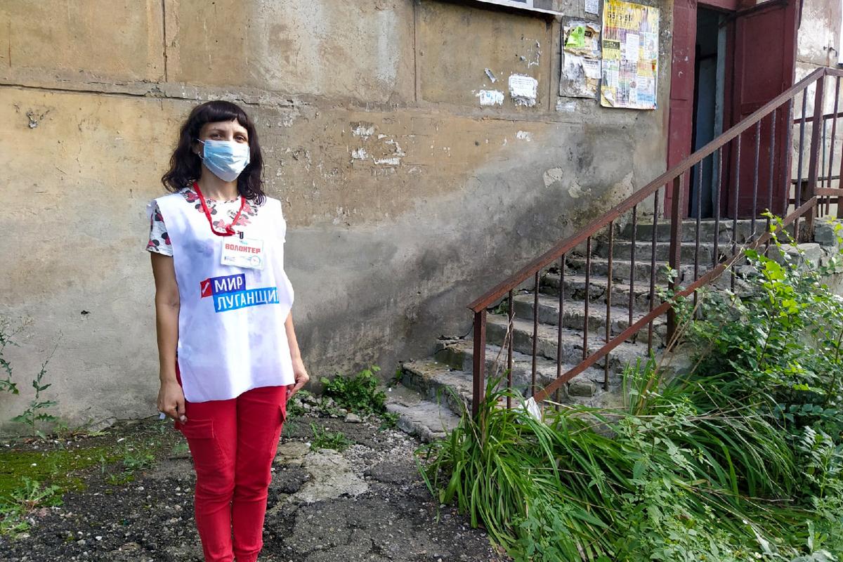 Волонтёры помогли жительнице Перевальска