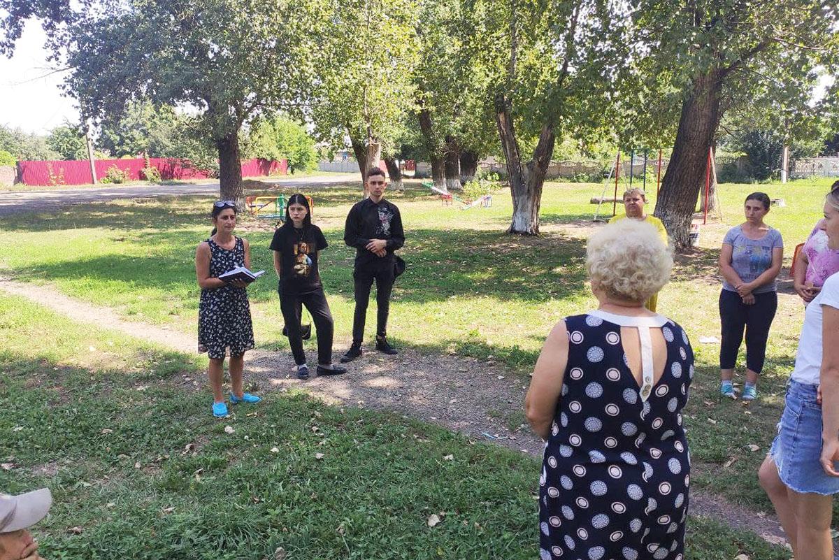 Белла Демешко встретилась с жителями поселка городского типа Новодарьевка города Ровеньки