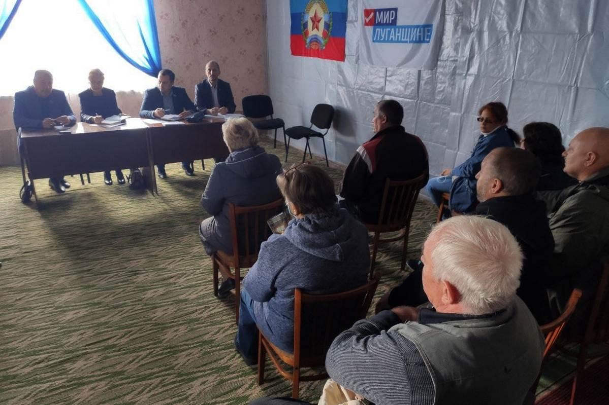 Депутаты Народного Совета ЛНР в рамках проекта «Парламентский час» обсудили решение проблем поселка Донецкий 1