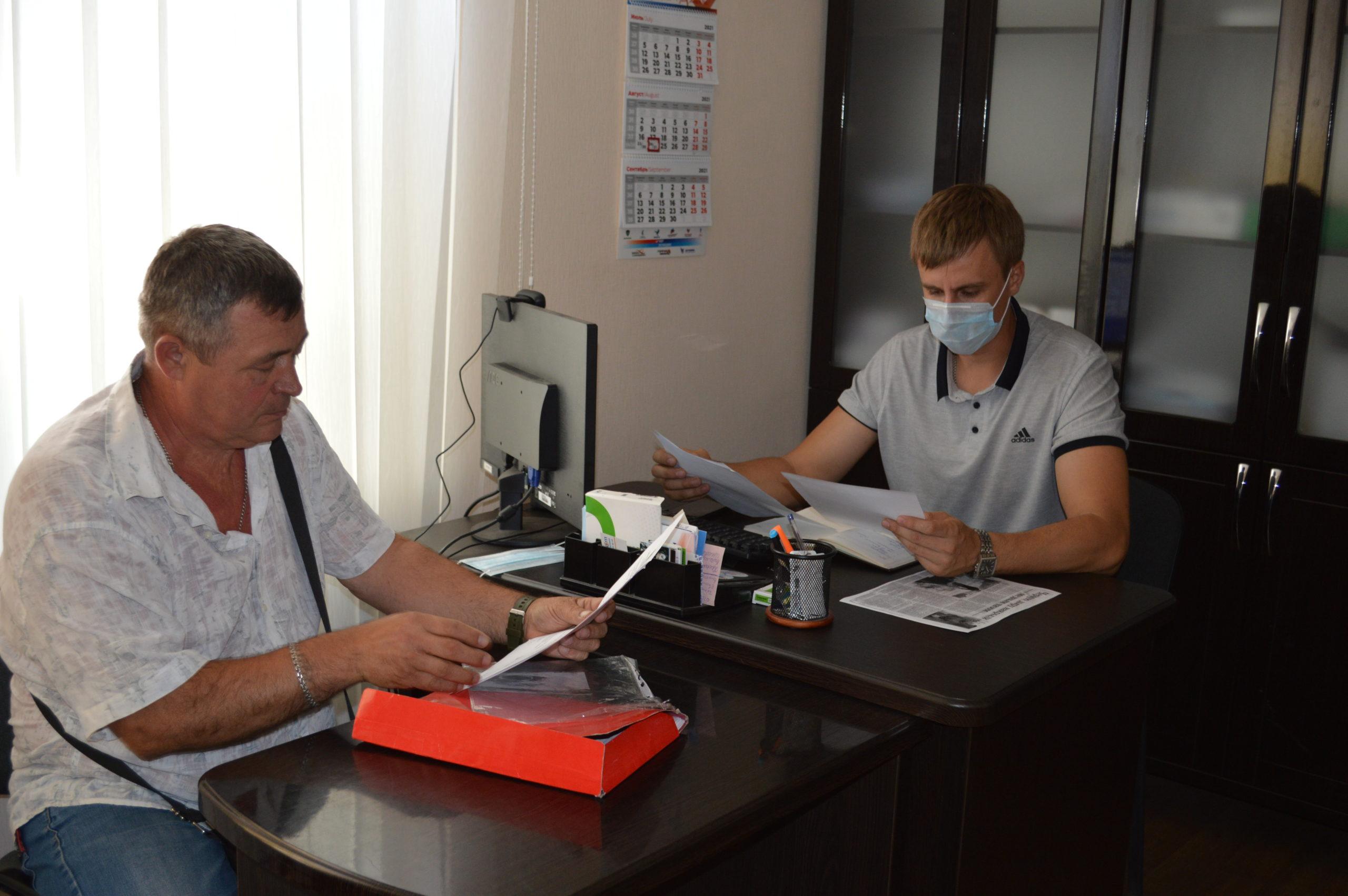 В Свердловске провел прием помощник депутата Народного Совета ЛНР Константина Скрыпника